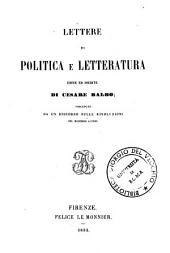 Lettere di politica e letteratura edite ed inedite