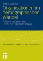 Organisationen im demographischen Wandel PDF
