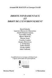 Droits fondamentaux et droit de l'environnement