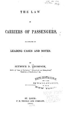 The Law of Carriers of Passengers PDF