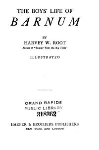 The Boys  Life of Barnum