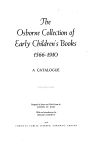 The Osborne Collection of Early Children s Books  1566 1910 PDF
