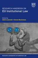 Research Handbook on EU Institutional Law PDF