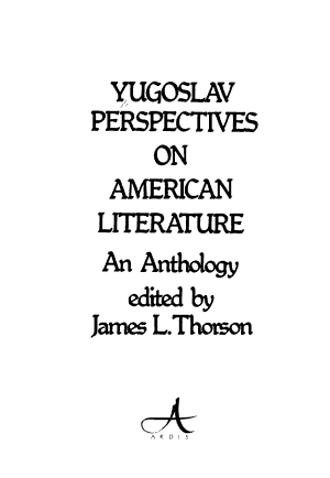 Yugoslav Perspectives on American Literature