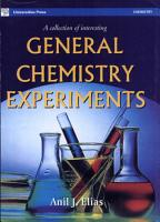 A Collection of Interesting General Chemistry Experiments PDF