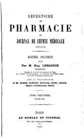 Répertoire de pharmacie: Volume9