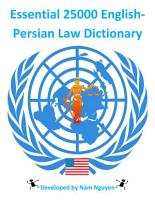 Essential 25000 English Persian Law Dictionary PDF