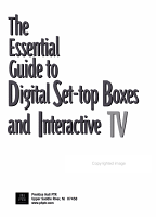 The Essential Guide to Digital Set top Boxes and Interactive TV PDF