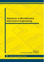Advances in Mechatronics and Control Engineering PDF