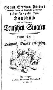 Historisch-politisches Handbuch von den besonderen Teutschen Staaten