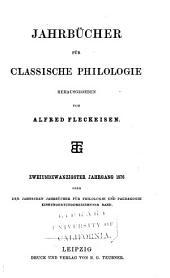 Neue Jahrbücher für Philologie und Paedagogik: Band 113