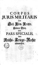 CORPUS JURIS MILITARIS Des Heil  R  m  Reichs PDF