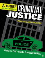 A Brief Introduction to Criminal Justice PDF