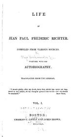 Life of Jean Paul Frederic Richter: Volume 1