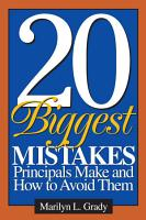 20 Biggest Mistakes Principals Make and How to Avoid Them PDF