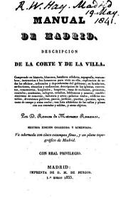 Manual de Madrid: descripcion de la corte y de la villa