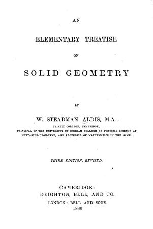 An Elementary Treatise on Solid Geometry PDF