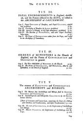 Codex Juris Ecclesiastici Anglicani, Or, The Statutes, Constitutions, Canons, Rubricks and Articles, of the Church of England, Methodically Digested Under Their Proper Heads: With a Commentary, Historical and Juridical : Before It, is an Introductory Discourse, Concerning the Present State of the Power, Discipline and Laws, of the Church of England : and After It, an Appendix of Instruments, Ancient and Modern