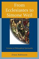 From Ecclesiastes to Simone Weil PDF