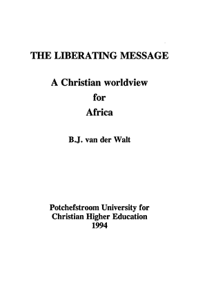 The Liberating Message PDF