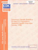 Summary Health Statistics For The U S Population