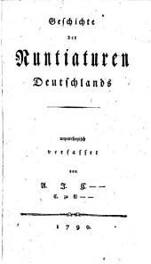 Geschichte der Nuntiaturen Deutschlands