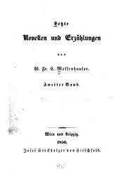 Letzte Novellen und Erzählungen: Band 2