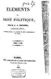 Eléments de droit politique