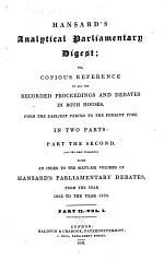 General Index to the First and Second Series of Hansard's Parliamentary Debates