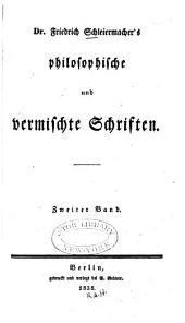Friedrich Schleiermacher's sämmtliche Werke: Band 2
