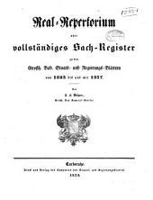 Grossherzoglich-Badisches Regierungs-Blatt: 1803-47