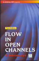 Flow in Open Channels Book