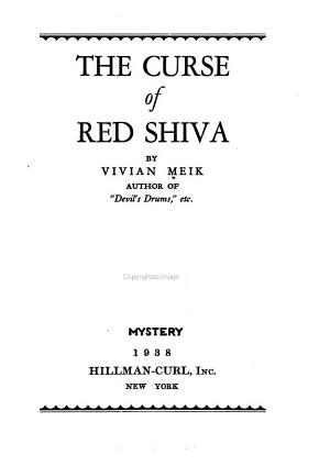 The Curse of Red Shiva PDF