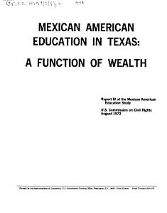 Mexican American Education in Texas PDF
