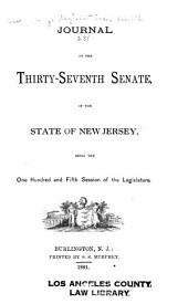Journal of the ... Senate of the State of New Jersey: Being the ... Session of the Legislature, Volume 105