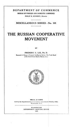 The Russian Cooperative Movement