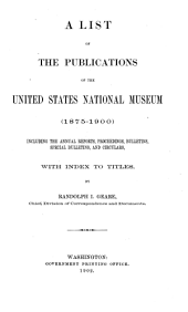 Bulletin of the United States National Museum: Volume 51