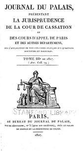 Journal du palais: Volume3
