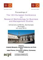 ECRM2013 Proceedings of the 12th European Conference on Research Methods PDF