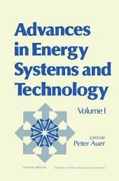 Advances in Energy Systems and Technology: Volume 1