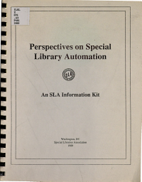 Perspectives on Special Library Automation PDF