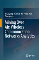 Mining Over Air  Wireless Communication Networks Analytics PDF