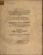 Disquisitio Anatomica, Nervum trigeminum partemque cephalicam Nervi sympathici Gadi Lotae Linn. cum nervis iisdem apud Hominem et Mammalia comparans