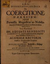 Diss. iur. de coercitione haeresium