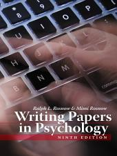 Writing Papers in Psychology: Edition 9