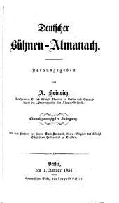 Deutscher Bühnen-Almanach: Band 21