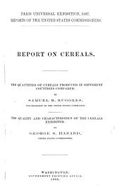 Reports of the United States Commissioners to the Paris Universal Exposition, 1867: Published Under the Direction of the Secretary of State by Authority of the Senate of the United States, Volume 5