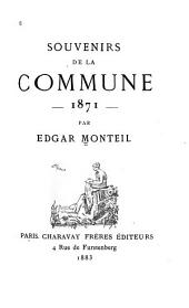 Souvenirs de la Commune, 1871