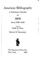 American Bibliography  Items 1 50192 PDF