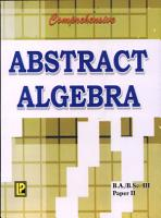 Comprehensive Abstract Algebra PDF